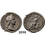 05.05.2013, Auction 2/2098. Roman Empire, Sabina, wife of Hadrian, 128-­136 AD, Denarius (Struck 128-­129 AD) Rome, Silver (3.25g)