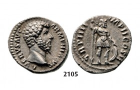 05.05.2013, Auction 2/2105. Roman Empire, Lucius Verus, 161-169 AD, Denarius (Struck 165 AD) Rome, Silver (2.73g)