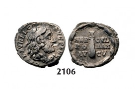 05.05.2013, Auction 2/2106. Roman Empire, Commodus, 177-­192 AD, Denarius (Struck 192 AD) Rome, Silver (2.52g)