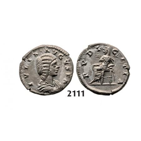 05.05.2013, Auction 2/2111. Roman Empire, Julia Domna, wife of Severus, 193-217 AD, Denarius, Rome, Silver (3.06g)