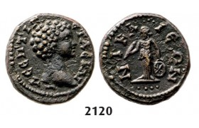 05.05.2013, Auction 2/ 2120. Roman Empire, Provincial Coinage, Geta as Caeser, 198­-209, Æ, Nicea (Bithynia) Bronze (3.10g)