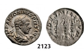 05.05.2013, Auction 2/2123. Roman Empire, Elagabal, 218-­222 AD, Denarius (Struck 222 AD) Rome, Silver (3.65g)