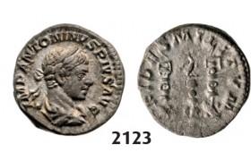 05.05.2013, Auction 2/2123. Roman Empire, Elagabal, 218-222 AD, Denarius (Struck 222 AD) Rome, Silver (3.65g)