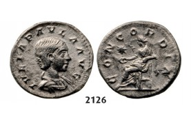 05.05.2013, Auction 2/ 2126. Roman Empire, Julia Paula, wife of Elagabal, 218­-222 AD, Denarius (Struck 219-­220 AD) Rome, Silver (2.82g)