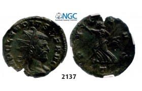 05.05.2013, Auction 2/2137. Roman Empire, Claudius II Gothicus, 268-­270 AD, Double­-Denarius (Struck 268-­270) Milan, Billon (2.98g), NGC AU