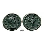 05.05.2013, Auction 2/2139. Roman Empire, Severina, wife of Aurelian, 270-275 AD, Æ (Denarius) (Struck 275 AD) Rome, Billon (2.66g)