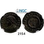 05.05.2013, Auction 2/2154. Roman Empire, Crispus, 316-326, Æ3 (Nummus) (Struck 324 AD) Thessalonica, Billon (2.65g), NGC MS