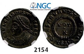 05.05.2013, Auction 2/2154. Roman Empire, Crispus, 316­-326, Æ3 (Nummus) (Struck 324 AD) Thessalonica, Billon (2.65g), NGC MS