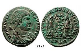 05.05.2013, Auction 2/2171. Roman Empire, Magnentius, 350-353 AD, Æ Centenionalis, Lugdunum, Bronze (5.09g)