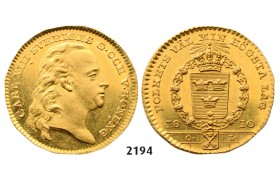 05.05.2013, Auction 2/2194. Sweden, Karl XIII, 1809­-1818, Dukat 1810-­O/L, Stockholm, GOLD