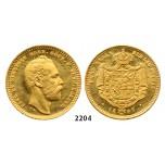 05.05.2013, Auction 2/2204. Sweden, Carl XV, 1859-1872, Dukat 1867-S/T, Stockholm, GOLD