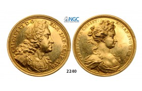 05.05.2013, Auction 2/ 2240. Austria, Medal of 6 Ducats, No Date (1711) by G. W. Vestner and D. S. Dockler GOLD, XF