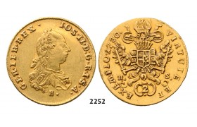05.05.2013, Auction 2/ 2252. Austria, Joseph II. as co­regent, 1765-­1780, 2 Ducats 1780­-E/HS, Karlsburg, GOLD