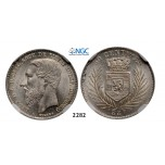 05.05.2013, Auction 2/2282. Belgian Congo, Leopold II, 1865-1909, 50 Centimes 1887, Brussels, Silver, NGC MS64