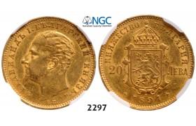 05.05.2013, Auction 2/ 2297. Bulgaria, Ferdinand I, 1887-1918, 20 Leva 1894-KБ, Kremnica, GOLD, NGC AU53