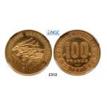 05.05.2013, Auction 2/2312. Central African Republic, Essai 100 Francs 1971, Paris, GOLDNGC PF65