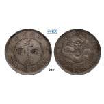 05.05.2013, Auction 2/ 2321. China, Kiangnan Province, 7 Mace 2 Candareens (Dollar) No Date (1897) Nanjing, Silver , NGC AU50
