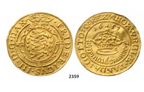 05.05.2013, Auction 2/2359. Denmark, Frederik III, 1648-1670, Guldkrone 1657, Copenhagen, GOLD