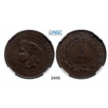 05.05.2013, Auction 2/2445. France, Third Republic, 1871-­1940, 5 Centimes 1896­-A, Paris, Bronze, NGC MS64BN