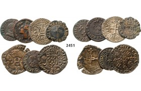 05.05.2013, Auction 2/ 2451. France, Lots, Silver/Copper medieval mixed lot. 7 coins!