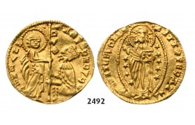 05.05.2013, Auction 2/ 2492. Greece, Crusaders, Chios, Andrea Dandolo, 1343­-1354, Imitation of the Venetian Zecchino, No Date, GOLD