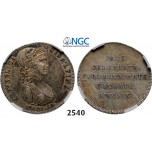 05.05.2013, Auction 2/2540. Italy, Cisalpine Republic, 30 Soldi, No date (1801) IX, Silver,NGC AU58