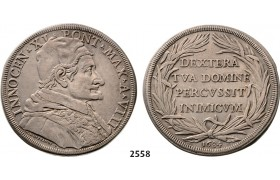 05.05.2013, Auction 2/ 2558. Italy, Papal States, Innocent XI, 1676­-1689, Piastra, Year VIII (1683/1684) Rome, Silver