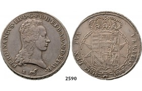 05.05.2013, Auction 2/ 2590. Italy, Tuscany, Ferdinand III. of Lothringen, 1790-1801, Francescone 1798, Florence, Silver