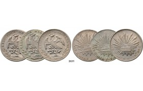 05.05.2013, Auction 2/ 2631. Mexico, Lots, Silver lot, 3 coins!