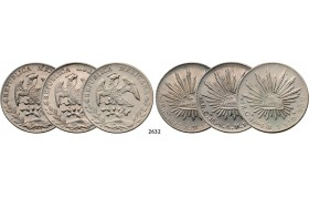 05.05.2013, Auction 2/ 2632. Mexico, Lots, Silver lot, 3 coins!