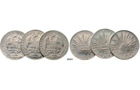 05.05.2013, Auction 2/ 2634. Mexico, Lots, Silver lot, 3 coins!