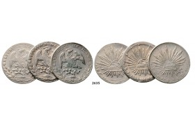 05.05.2013, Auction 2/ 2635. Mexico, Lots, Silver lot, 3 coins!
