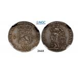 05.05.2013, Auction 2/2668. Netherlands, Netherlands West Indies, ¼ Gulden 1794, Utrecht, Silver, NGC AU55