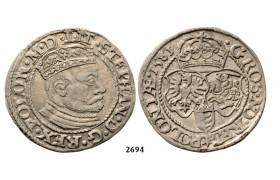 05.05.2013, Auction 2/ 2694. Poland, Stefan Bathory, 1575­-1586, Groschen (Grosz) 1581, Olkusz, Silver