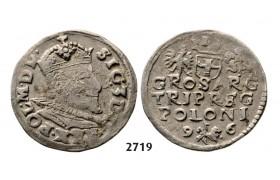 05.05.2013, Auction 2/ 2719. Poland, Sigismund III. Vasa, 1587-1632, 3 Groschen (Trojak) 1596, Lublin, Silver