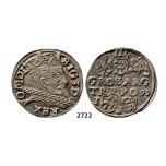 05.05.2013, Auction 2/2722. Poland, Sigismund III. Vasa, 1587-1632, 3 Groschen (Trojak) 1597-I/F, Lublin, Silver