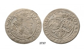 05.05.2013, Auction 2/2737. Poland, John II Casimir, 1648-­1668, 6 Groschen (Szóstak) 1657, Cracow, Silver