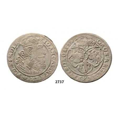 05.05.2013, Auction 2/2737. Poland, John II Casimir, 1648-1668, 6 Groschen (Szóstak) 1657, Cracow, Silver