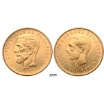 05.05.2013, Auction 2/2799. Romania, Carol I, 1866­-1914, 100 Lei, No Date (1906) Brussels, GOLD