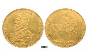 05.05.2013, Auction 2/ 2800. Romania, Carol I, 1866­-1914,50 Lei, No Date (1906) Brussels, GOLD