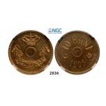 05.05.2013, Auction 2/2836. Romania, Carol I, 1866-1914, Pattern 10 Bani 1905, Brussels, Brass, NGC MS63
