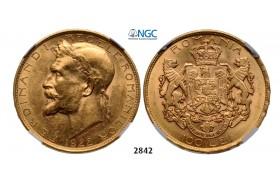 05.05.2013, Auction 2/2842. Romania, Ferdinand I, 1914-1927, 100 Lei 1922, London, GOLD, NGC MS62