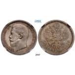 05.05.2013, Auction 2/2947. Russia, Nicholas II, 1894-1918, 50 Kopeks 1900 (ФЗ) St. Petersburg, Silver, NGC MS65