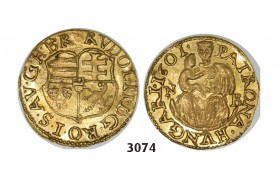 05.05.2013, Auction 2/3074. Transylvania, Habsburg occupation under Rudolph II, 1598­-1604, ¼ Ducat (Denar struck in gold) 1601­-NB, Nagybanya, GOLD