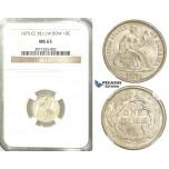 R526, United States, Liberty Seated Dime (10C.) 1875-CC