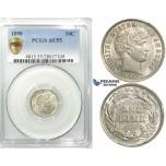 R527, United States, Barber Dime (10C.) 1898, Silver, PCGS AU55