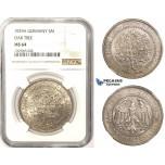 R809, Germany, Weimar, 5 Reichsmark (Oak Tree) 1929-A, Berlin, Silver, NGC MS64