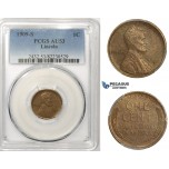 R832, United States, Lincoln Cent 1909-S, San Francisco, PCGS AU53