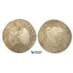 V72, Austria (Bohemia) Ferdinand I, 1/2 Taler ND (1529) Joachimstal, Silver (14.53g) Extremely Rare!