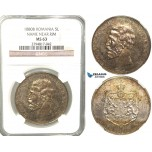V74, Romania, Carol I, 5 Lei 1880-B (Name near rim) Bucharest, Silver, NGC MS63